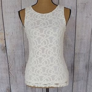 Banana Republic Keyhole Button Back Tank Top Sz XS